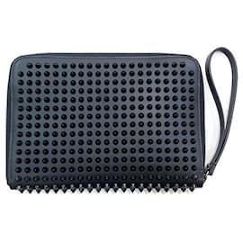 Christian Louboutin-[Used] CHRISTIAN LOUBOUTIN Tablet Case Black Tablet Fastener Spike Studs-Black