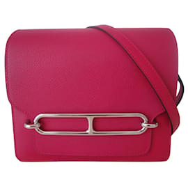 Hermès-Bolsa Hermes mini Roulis-Rosa,Ameixa