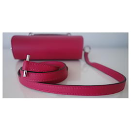 Hermès-Hermes mini Roulis bag-Pink,Prune