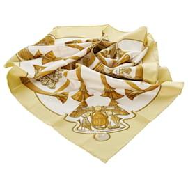 Hermès-Hermes White Scarab Silk Scarf-White,Multiple colors