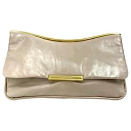 Miu Miu-Miu Miu Brown Leather Clutch Bag-Brown,Beige