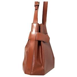 Louis Vuitton-Louis Vuitton Brown Epi Sac dEpaule-Brown