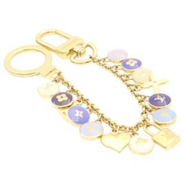Louis Vuitton-LOUIS VUITTON Porte Cles Cianne Pastilles Charm Chain Gold M65386 LV Auth 24591-Golden
