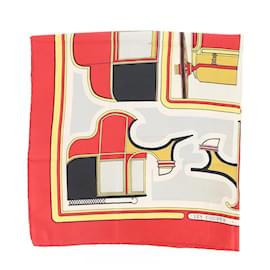 Hermès-Silk scarves-Dark red