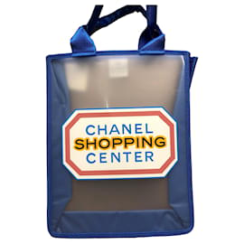 Chanel-shopping center tote-Blue