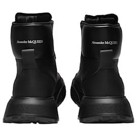 Alexander Mcqueen-Upper and Ru Sneakers in Black Leather-Black