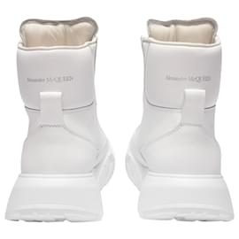 Alexander Mcqueen-Upper and Ru Sneakers in White Leather-Black
