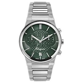 Salvatore Ferragamo-Ferragamo Sapphire Chrono Bracelet Watch-Silvery,Metallic