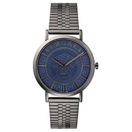 Versace-V-Essential Bracelet Watch-Grey