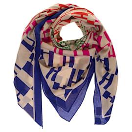 Hermès-Stunning Hermes shawl 140 Op'H in Cashmere-Beige