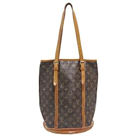 Louis Vuitton-Louis Vuitton Brown Monogram Bucket GM-Brown