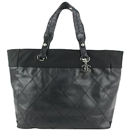 Chanel-Large Black Quilted Biarritz GM Tote Bag-Other