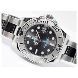 Rolex-ROLEX YACHT-MASTER37 dark rhodium 268622 Mens-Black
