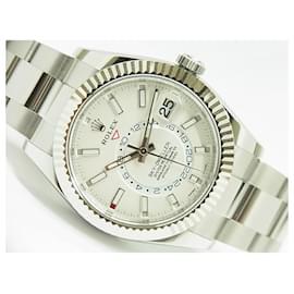 Rolex-ROLEX Sky-Dweller WG bezel 326934 white unused Mens-White