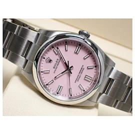 Rolex-Rolex Oyster Perpetual36 candy pink 126000 Mens-Silvery