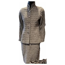 Chanel-Skirt suit-Grey