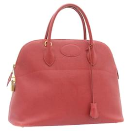 Hermès-Hermes Bolide 37 Hand Bag Leather Red Auth nh122-Red