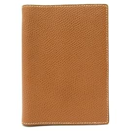 Hermès-NEW VINTAGE AGENDA HERMES SIMPLE PM LEATHER EPSOM GOLD DIARY COVER-Caramel