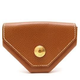 Hermès-NEW VINTAGE HERMES COIN WALLET 24 IN EPSOM GOLD NEW LEATHER WALLET-Brown