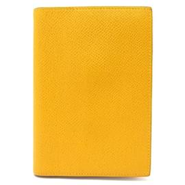 Hermès-NEW HERMES AGENDA SINGLE PM BLANKET IN YELLOW EPSOM LEATHER NEW DIARY COVER-Yellow