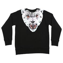 Autre Marque-Marcelo Burlon Kids Black lynx sweatshirt with feline print-Black