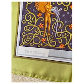 Hermès-Silk scarves-Light green