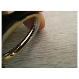 Hermès-Hermès kyoto GM gold steel scarf ring-Gold hardware