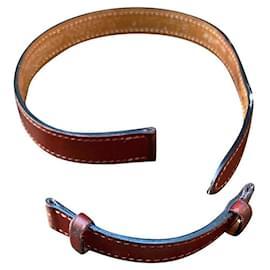Hermès-Hermès lined turn watch strap-Dark red