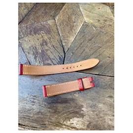 Hermès-Hermès simple bracelet for watch-Dark red