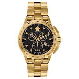 Versace-Sport Tech Chronograph Watch-Golden,Metallic