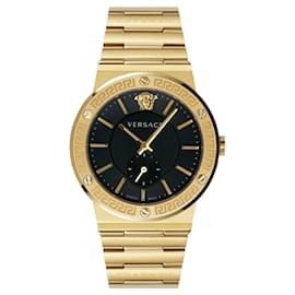 Versace-Greco Logo Bracelet Watch-Golden,Metallic