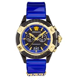 Versace-Icon Active Chronograph Watch-Black
