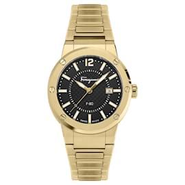 Salvatore Ferragamo-F-80 Bracelet Watch-Golden,Metallic