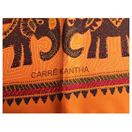 Hermès-Carré Kantha-Orange