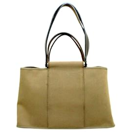 Hermès-Hermes Brown Cabag Elan Canvas Satchel-Brown