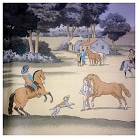 Hermès-Presentation of horses-Beige