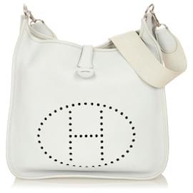 Hermès-Hermes White Evelyne I GM-White