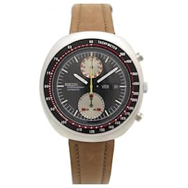 Autre Marque-VINTAGE SEIKO UFO WATCH 6138-0011 44 MM AUTOMATIC CHRONOGRAPH STEEL WATCH-Silvery
