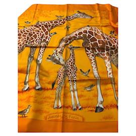 Hermès-Carré les girafes-Orange