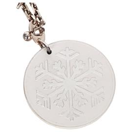 Hermès-Porte-clés flocon de neige blanc Hermes-Argenté,Blanc
