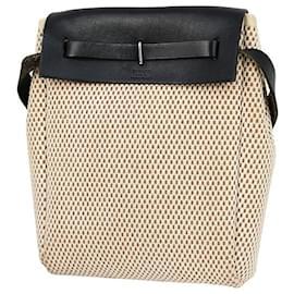 Hermès-Handbags-Black,Beige