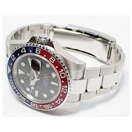 Rolex-ROLEX GMT MasterII red blue bezel Oyster Bracelet 126710BLRO Mens-Black