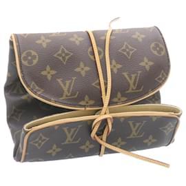 Louis Vuitton-LOUIS VUITTON Monogram Trousse Bijoux Étui à Accessoires Pliable M47837 auth 25192-Marron