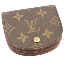 Louis Vuitton-LOUIS VUITTON Monogram Porte Monnaie Porte Monnaie Gousset M61970 Auth LV 25259-Marron