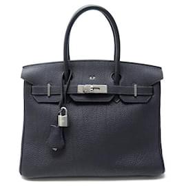 Hermès-Hermes Birkin handbag 30 IN NIGHT BLUE TOGO LEATHER 2003 PURSE-Blue