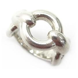 Hermès-VINTAGE HERMES RING T-RING50 in Sterling Silver 8.5GR SILVER STERLING RING-Silvery