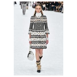 Chanel-5,7K$ NEW 2019 Fall Dress-Grey
