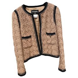 Chanel-Jackets-Black,Beige