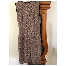 Dolce & Gabbana-Heather wool dress-Brown