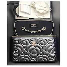 Chanel-Chanel Black Camellia Vanity Case-Black